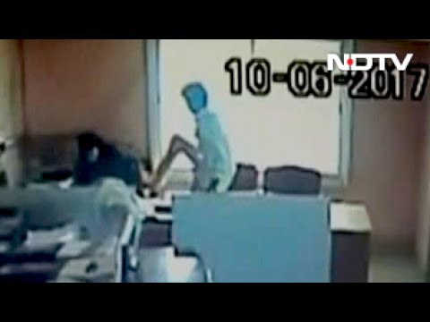 Caught On Camera Kicking Co-Worker, Karnataka Government Employee Arrested