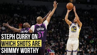 "Warriors' Stephen Curry on ""shimmy worthy"" shots"