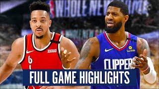 LA CLIPPERS vs PORTLAND TRAIL BLAZERS - FULL GAME HIGHLIGHTS   2019-20 NBA Season