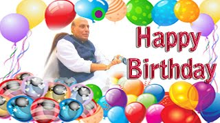 Best Defence Minister | Rajnath Singh || Happy Birthday Status | Greetings & Wishes | Short Bio |