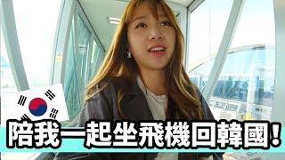 陪我一個人坐飛機回韓國   Mira 咪拉