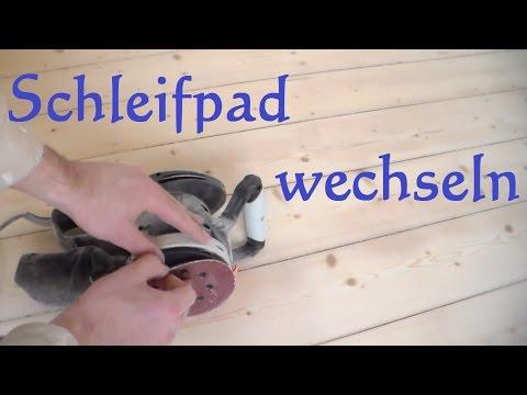 Schleifpads Schleipapier vom Exzenterschleifer wechseln - Schleifteller Schwingschleifer tauschen