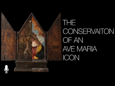 Restoring an Old Ave Maria Painting