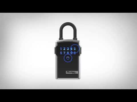 Screen capture of Bluetooth<sup>®</sup> Lock Box - How to Open the Door and Remove the Shackle
