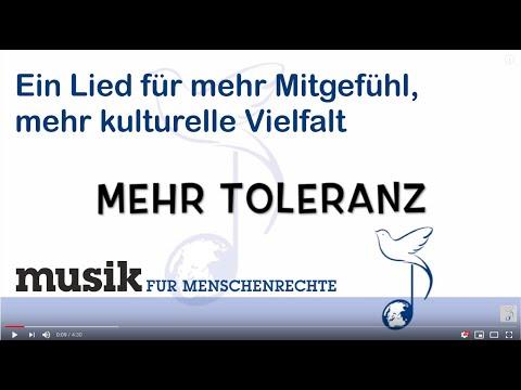 Mehr Toleranz