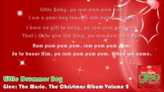 Glee - Little Drummer Boy (Lyrics On Screen)