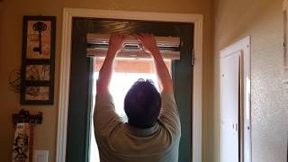 Mounting a Shade Outside Mount on a Door
