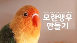 Needle Felt Bird Tutorial 니들펠트 모란앵무 만들기!