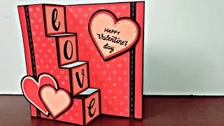Diy Valentines Day Cards |handmade Greeting Cards | Trifold Card Tutorial