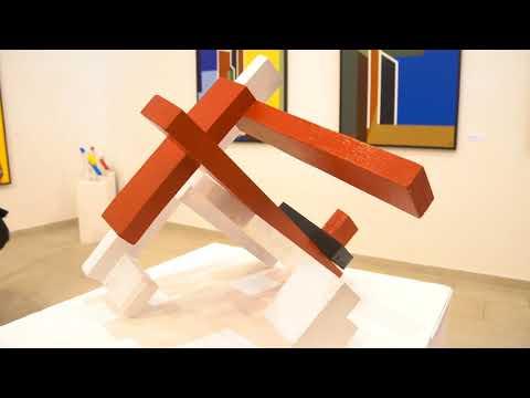 Pannonia-Geometria. Ézsiás István és Aknay János kiállítása, Mank Galéria. Hu Kultura, 2017