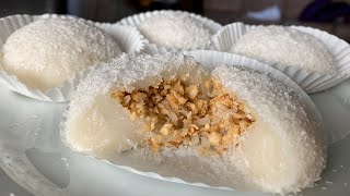 Peanut Coconut Mochi (Luo Mai Chi 糯米糍)! - Easy, Gluten Free Chinese Desserts At Home!