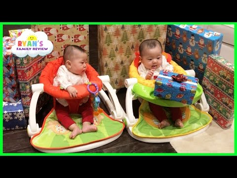 Twins Baby's First Christmas Morning 2016 Family Fun Games Ryan's Family Review Holiday Vlog