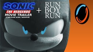 Sonic Movie Trailer 1 with Run Boy Run (Cartoon Sonic Version)