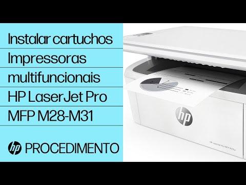 Como instalar cartuchos nas impressoras multifuncionais HP LaserJet Pro MFP M28-M31