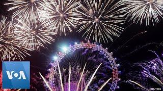 Tahun Baru, Warga London Dihibur Oleh Kemeriahan Pesta Kembang Api