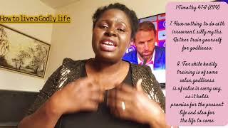 How To Live A Godly Life As A Christian//Korede Fagbolade