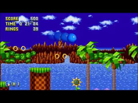 Sonic Mania Walkthrough - Lava Reef 2 Sonic: 1'27