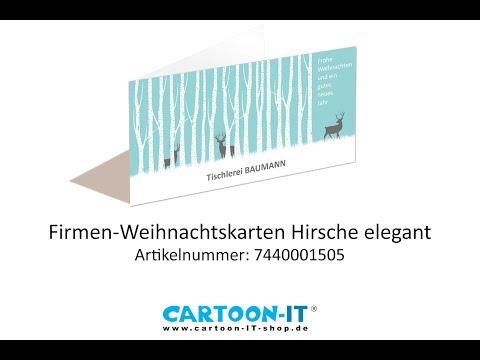 Firmen-Weihnachtskarte mit Logo, ArtNr. 7440001505