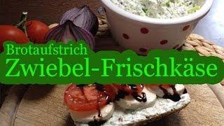 Zwiebel-Frischkäse-Brotaufstrich