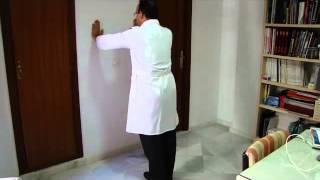 Ejercicios Escápula Flexiones en pared