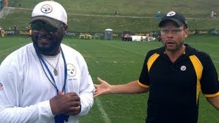 DAD AT STEELERS TRAINING CAMP 2013