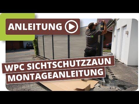 WPC Sichtschutzzaun Montageanleitung