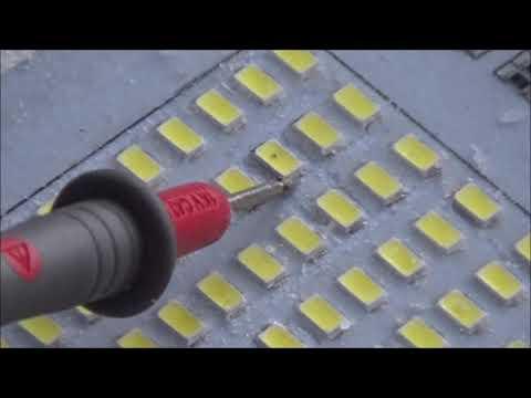 LED Strahler Reparatur wenn die Led,s Flimmern, smd led
