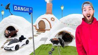 We Built an IGLOO Neighborhood! *BEST IGLOO FORT WINS*