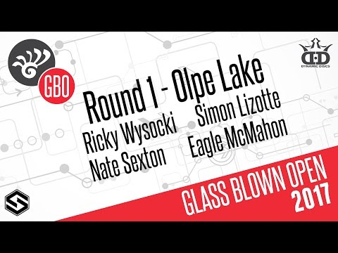 Glass Blown Open 2017 presented by Dynamic Discs - Round 1 LIVE