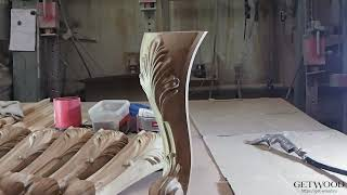 Видео - Мебельная резная ножка l-Oprah