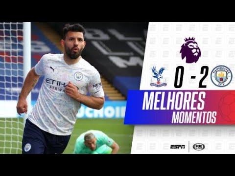 AGUERO FAZ GOLAÇO! Melhores momentos de Crystal Palace 0 x 2 Manchester City na Premier League