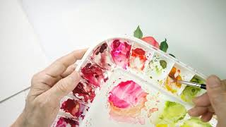 Watercolour Fruit And Floral Wreaths - Peaches & Peonies Wreath Demo