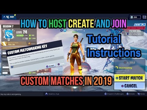 fortnite how to create host and join custom matchmaking lobby servers in 2019 tutorial instructions - custom matchmaking keys in fortnite battle royale