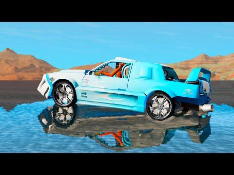 BeamNG.Drive - High speed Water sliding #9