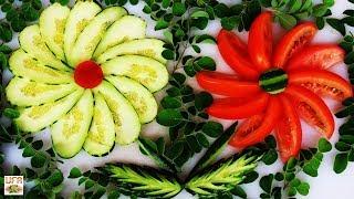 Amazing Cucumber & Tomato Art Decoration with Maringa Designs!