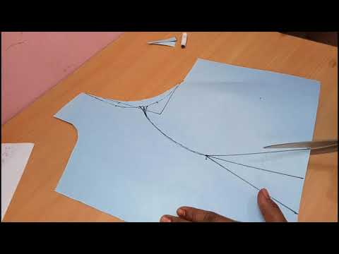 Princess  cut with boat neck paper  cutting 40 inches in hindi