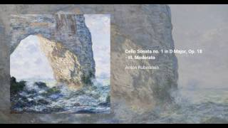 Cello Sonata no. 1 in D Major, Op. 18