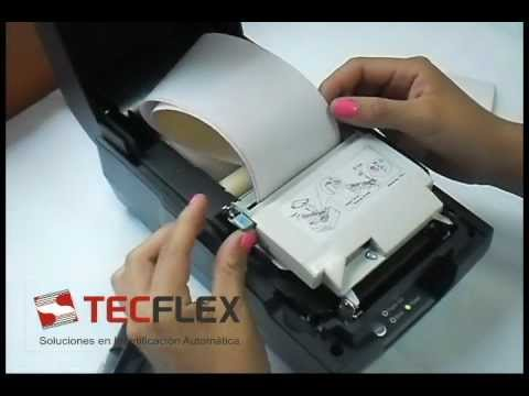 Colocación de suministros en impresora de tickets - Bixolon SRP270 - www.tecflex.com