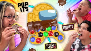 POP IT's Chocolate Candy Bar Food Hack as seen on Tik Tok (FV Family #shorts)