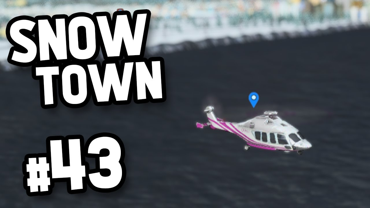 TRANSPORTING BY HELICOPTER - Skylines SnowTown #43