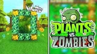 Mini world block art como hacer portales free online for Como hacer la casa de plantas vs zombies en minecraft