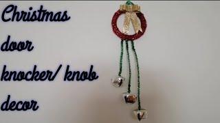 Easy Christmas Door Knob/ Door Knocker Decor