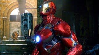 Avengers vs Ultron - Mark 45 - Battle of Sokovia - Avengers: Age of Ultron (2015) Movie CLIP HD