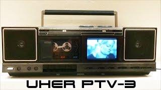 Uher PTV-3 - 80er Boombox mit mini s/w TV