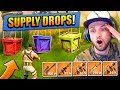 LEGENDARY SUPPLY DROPS in Fortnite: Battle Royale!