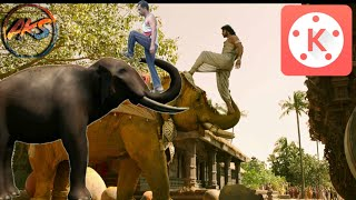 Bahubali 2 vfx elephant sceen making in kinemaster full tutorial ! bahubali elephent sceen making