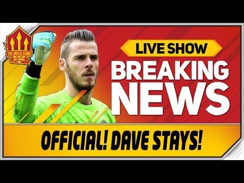 De Gea SIGNS New Man Utd Contract! Man Utd News