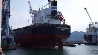 常石造船進水式20130117