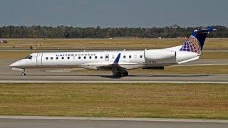 Onboard: Taxi & Take off: United Embraer RJ 135/140/145 Jet