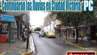 preview picture of video 'Continuarán las lluvias en Ciudad Victoria PC'